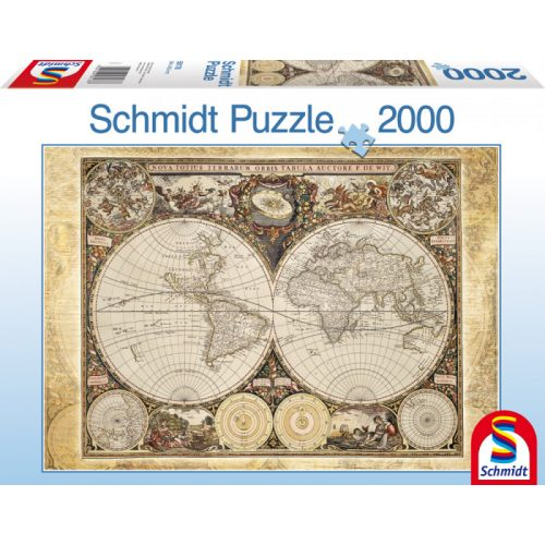 Historical map of the world, 2000 db (58178)