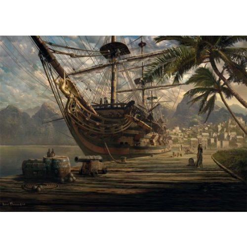 Ship at ancor, 1000 db (58183)