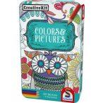Kreativ játszókészlet, Színek és képek fémdobozban (51403)