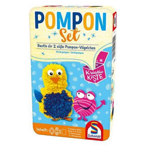 Pompon Set fémdobozban (51602)