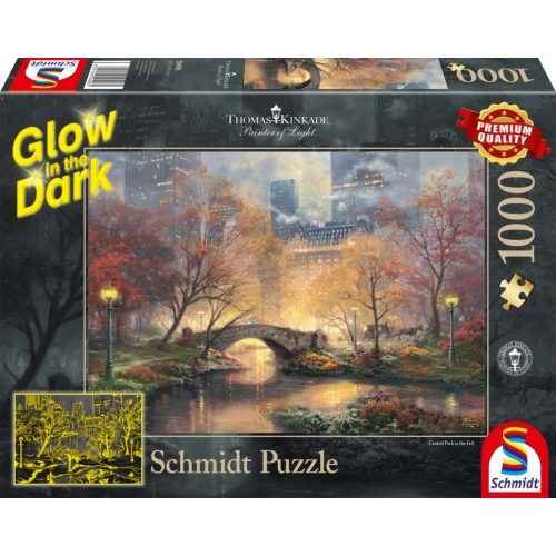 Autumn in Central Park, Glow in the Dark, 1000 pcs (59496)