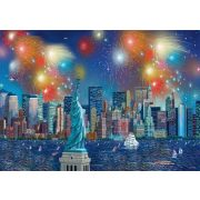 Statue of Liberty with fireworks, 1000 db (59649)
