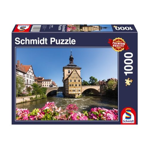 Bamberg, Regnitz and Old Town hall, 1000 pcs (58397)