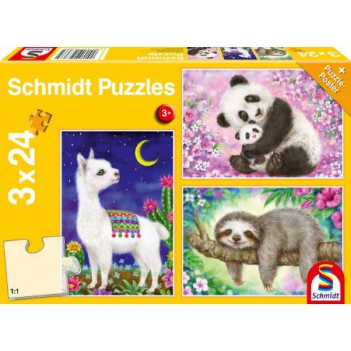 Panda, lama, sloth , 3x24 db (56368)