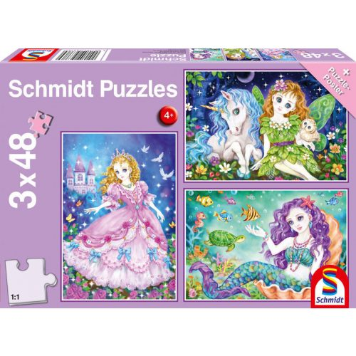 Princess, fairy and mermaid 3x48 db (56376)