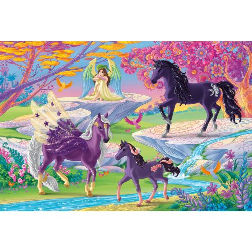 Glade with unicorn family, 100 db (56396)